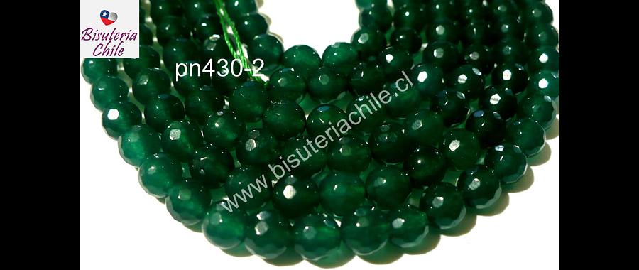 Agata de 6 mm en tonos verdes tira de aprox 63 o 64 piedras aprox