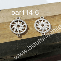 Base de aro baño de plata, 16 mm de diámetro, por par