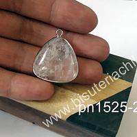 Colgante de cuarzo cristal, 30 mm de largo x 30 mm de ancho, por unidad