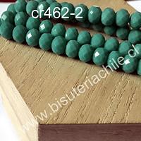 Cristal facetado de 8 mm, en tono jade verdoso, tira de 70 cristales aprox