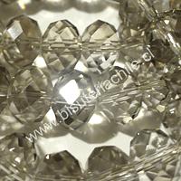 Cristal gris   8 mm de ancho por x 6 mm 70 unidades