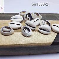 Con botas cortadas grisáceas, 15 x 10 mm, set de 30 gris
