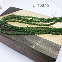 Agatas, Ágata de 2 mm, en tonos verdes, tira de 175 aprox.