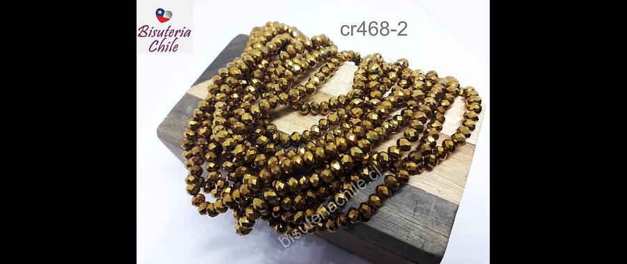 Cristal dorado fuerte, de 4 mm, tira de 145 aprox.