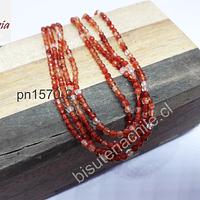 Agatas, Ágata en tonos naranjos de 2 mm, tira de 175 piedras aprox.