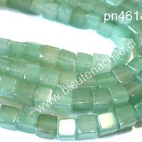 Jade cuadrado de 4 x 4 mm, set de 95 piedras aprox.