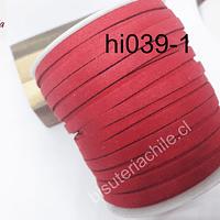 Rollo de gamuza roja de 5 mm de grosor, 30 más de largo