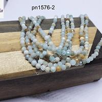 Amazónita facetada de 3 mm, tira de 115 piedras