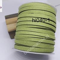 Gamuza verde musgo de 5 mm de grosor, 30 mts. de largo