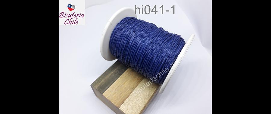 Hilos, Hilo encerado color azul, rollo de 70 metros