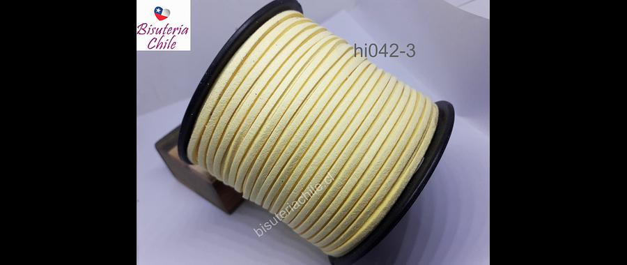 Gamuza de 3 mm en color amarillo pálido, por metro