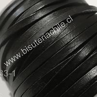 Cuero negro plano de 4 mm mm de espesor, por metro