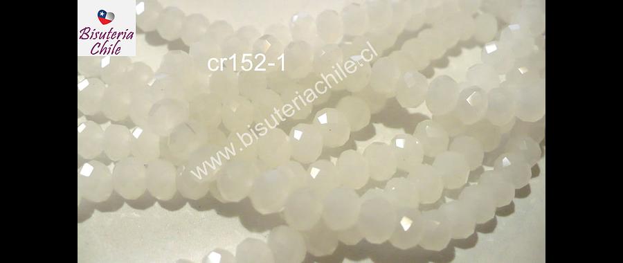 cristal chino facetado de 6 mm en color blanco piedra luna, tira de 100 cristales
