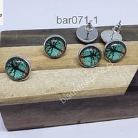 Set de aros con cambuchón y tornillo, 12 mm de diámetro set de 3 pares