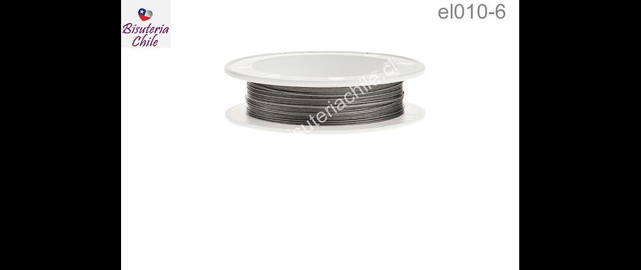 Alambre acero recubierto 0.45 mm, para bsuteria, rollo de 100 mts