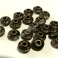 Separador envejecido, 7 mm de diámetro por 4 mm de ancho, set de 15 unidades