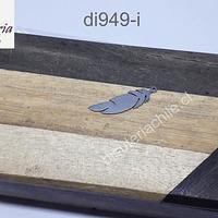 Dijes y colgantes de acero en forma de pluma, 24 x 6 mm, por unidad