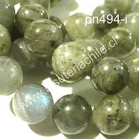 Labradorita 8 mm, tira de 46 piedras aprox.