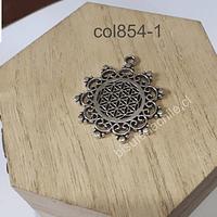 Colgante plateado, 29 mm de diámetro, por unidad