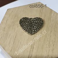 Colgante dorado en forma de corazón, 27 mm x 25 mm, por unidad