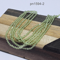Prehnita facetada de 1,8 mm, tira de 200 piedras aprox