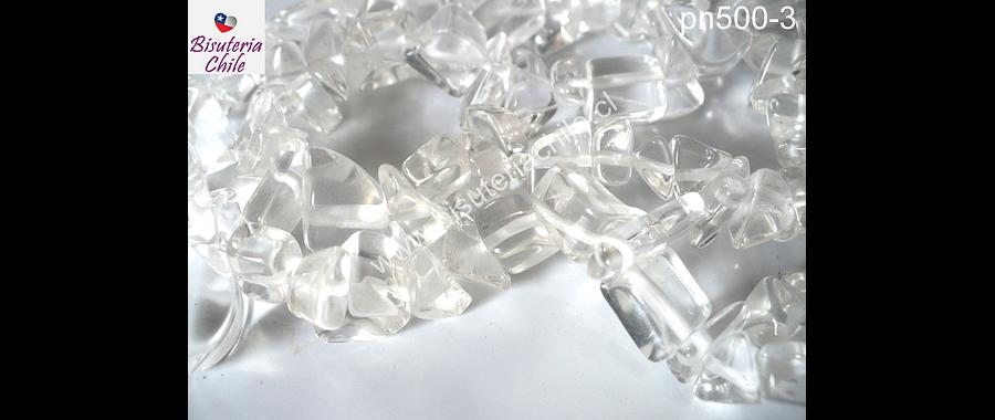 Cuarzo cristal, piedra chip pequeña, tira de 80 cm aprox