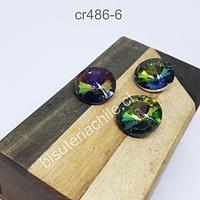Cristal con forma tornasol, con orificio superior, 18 mm de diámetro, set de 3 unidades