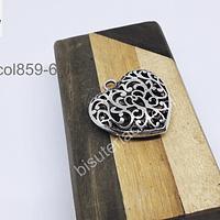 Colgante de corazón con diseño, 35 x 33 mm, por unidad