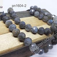 Labradorita facetada de 8 mm, calidad AA, tira de 24 piedras