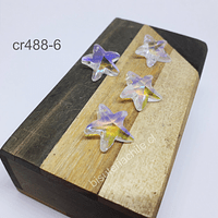 Cristal transparente tornasol en forma de estrella de mar, 15 x 15 mm, set de 4 unidades