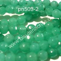 Agata de 4 mm en tonos jade, tira de 90 piedras aprox