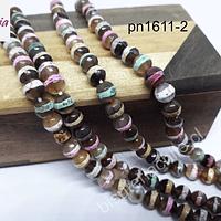 Ágata diseño de 6 mm, excelente calidad, tira de 30 piedras