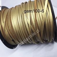 Gamuza dorada de, 3mm de ancho x 1 mm, por metro
