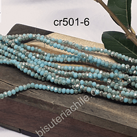 Cristal facetado de 2 mm, color jade con brillos tornasol, tira de 190 cristales aprox.