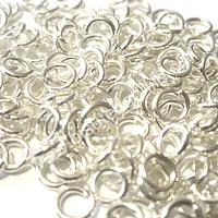 Argolla de plata 925, 5 mm (abierta), set de 4 unidades