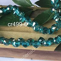 Cristal gota austriaco, color calipso, 8 x 8 mm, set de 6 unidades