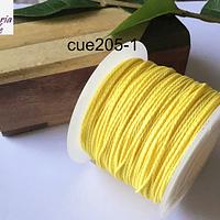 Hilos, Hilo encerado color amarillo, rollo de 70 mts.