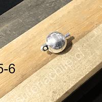 Broche iman plateado, 17 mm con la unión, 10 mm de diámetro, venta por unidad