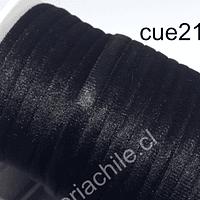Cordón de terciopelo negro, 5 mm de ancho,  por metro
