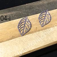 Dije acero en forma de hoja, 24 x 11 mm, set de 2 unidades