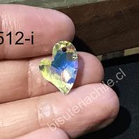 Cristal  tornasol en forma de corazón,  para colgante, por por unidad