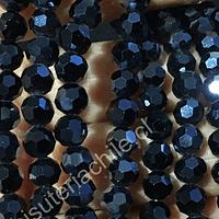 Cristal redondo de 6 mm en color grafito tornasol, tira de 50 cristales