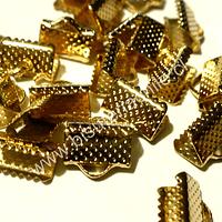 Terminal dorado 10 mm de ancho y 6 mmm de largo set de 24 unidades