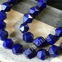 Lapislázuli hexagonal de 8 mm, tira de 21 piedras