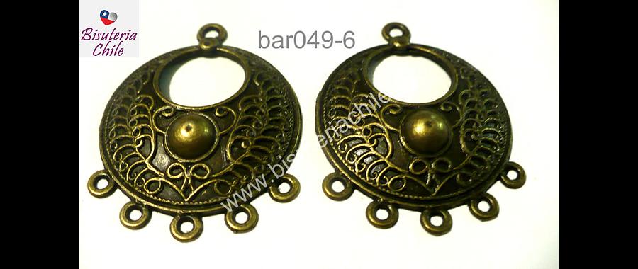 Base de aro envejcido, 32 mm de diámetro, el par