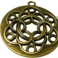 Colgante envejecido, estilo mandala, 37 mm de diámetro, por unidad