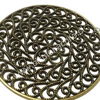 Colgante envejecido con diseño tipo mandala, 52 mm de diámetro, por unidad