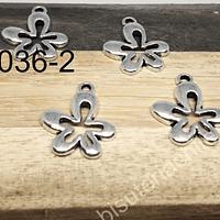 Dije en forma del flor, 17 x 14 mm, set de 7 unidades