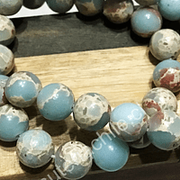 Jaspe Aqua de 10 mm, tira de 38 piedras aprox.
