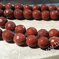 Jaspe facetado rojo de 6 mm, tira de 60 piedras